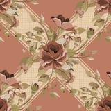 Beautiful Seamless peony pattern Stock Photos