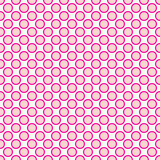 Beautiful Seamless pink polka dots pattern with border. Royalty Free Stock Images