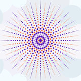 Beautiful seamless print of small colored circles forming the su Royalty Free Stock Photo