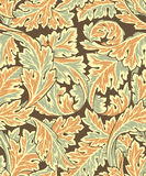 Beautiful seamless rococo pattern Royalty Free Stock Photos