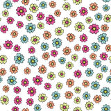 Beautiful seamless romantic pattern with colorful flowers Stock Image