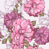 Beautiful Seamless Rose Background Stock Images