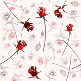 Beautiful seamless rose pattern Stock Photo