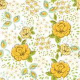 Beautiful seamless rose pattern abstract Royalty Free Stock Images