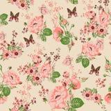 Beautiful Seamless Roses Background Stock Image