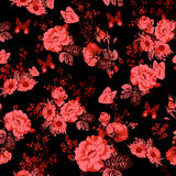 Beautiful Seamless Roses Background vector illustration