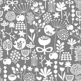 Beautiful seamless texture with birds and flowers. Royalty Free Stock Images