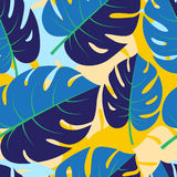 Beautiful seamless tropical jungle floral graphic seamless backg Royalty Free Stock Photos