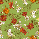 Beautiful Seamless Vintage Floral Background Stock Photos