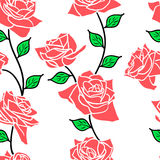 Beautiful  seamless wallpaper with rose flowers Royalty Free Stock Images