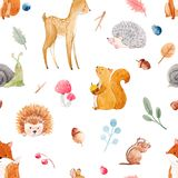 Watercolor baby pattern royalty free illustration