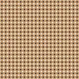 Beautiful Seamless  white black polka dots pattern brown background Stock Photo