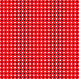 Beautiful Seamless  white black polka dots pattern on red background Stock Image