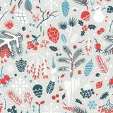 Beautiful seamless winter pattern Royalty Free Stock Photos
