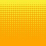 Beautiful Seamless  yellow hearts pattern on orange background Royalty Free Stock Photo