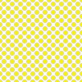 Beautiful seamless  yellow polka dot with border pattern. Royalty Free Stock Photography