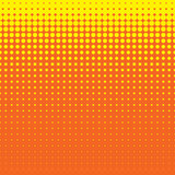 Beautiful Seamless  yellow polka dots pattern on orange background Stock Image