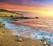 Beautiful seascape. Nature composition of sunset royalty free stock photography