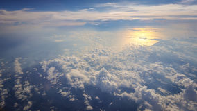 Beautiful seascape from above. With clouds Stock Images