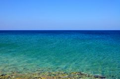 Beautiful seascape, azure sea against the blue sky in calm weather. 1 royalty free stock photos