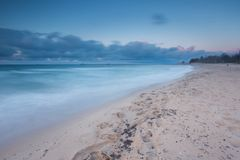 Beautiful seascape with Baltic sea shore after sunset Stock Image