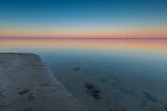 Beautiful seascape of Bay before sunrise Royalty Free Stock Image