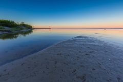 Beautiful seascape of Bay before sunrise Stock Images