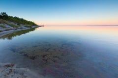 Beautiful seascape of Bay before sunrise Stock Image