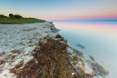 Beautiful seascape of Bay before sunrise Stock Photography