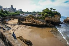 Beautiful seascape at Biarritz, France stock images