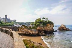 Beautiful seascape at Biarritz, France stock photos