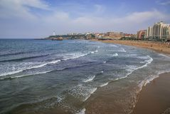 Beautiful seascape at Biarritz, France royalty free stock photos