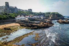 Beautiful seascape at Biarritz, France stock image