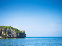 Beautiful seascape and blue sky Royalty Free Stock Images