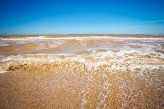 Beautiful seascape. Broken water. Royalty Free Stock Photography