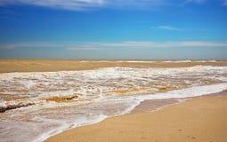 Beautiful seascape. Broken water. Lumpy sea Stock Images