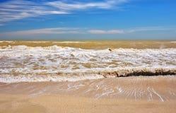 Beautiful seascape. Broken water. Lumpy sea. Royalty Free Stock Photography