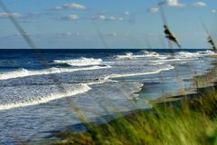 Magnificant Seascape of the Beaches of North Carolina Royalty Free Stock Photo