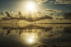 Beautiful seascape. Composition of nature. Royalty Free Stock Image