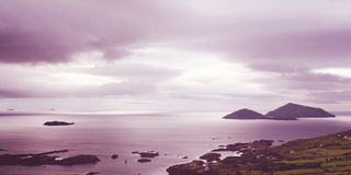 Beautiful seascape in County Kerry - vintage effect. Stock Photos