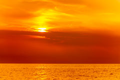 Beautiful seascape evening sea horizon and sky. Royalty Free Stock Photos