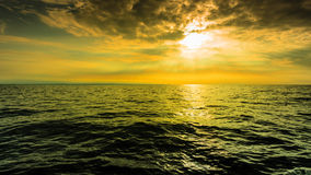 Beautiful seascape evening sea horizon and sky. Royalty Free Stock Images