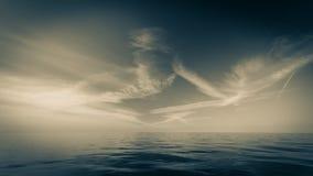 Beautiful seascape evening sea horizon and sky. Stock Photos