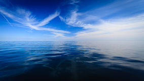 Beautiful seascape evening sea horizon and sky. Stock Images