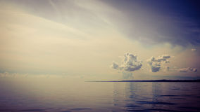 Beautiful seascape evening sea horizon and sky. Royalty Free Stock Image