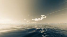 Beautiful seascape evening sea horizon and sky. Stock Photography