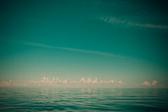 Beautiful seascape evening sea horizon and sky. Stock Photo