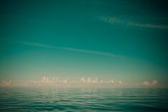 Beautiful seascape evening sea horizon and sky. Stock Photo