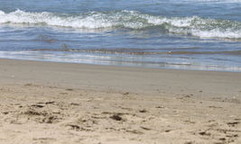Beautiful seascape with fresh coldwater in summer, selective focus Royalty Free Stock Image