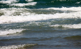 Beautiful seascape with fresh coldwater in summer, selective focus Stock Images
